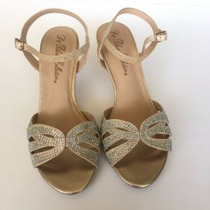 Shoes - Del Blossom Champagne Rose Gold Sandals Strappy